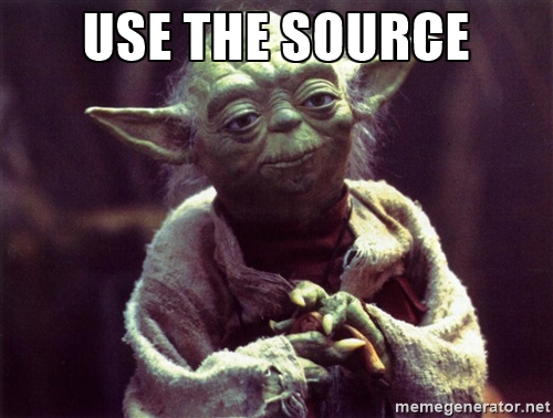 use the source